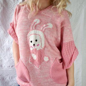 Bunny Rabbit pink sweater